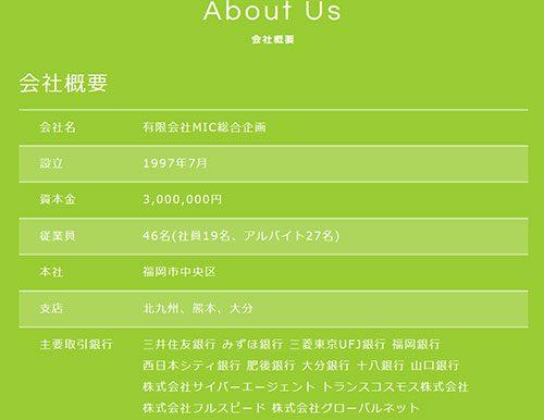 メル☆パラ運営会社の会社概要