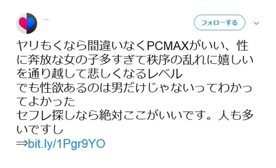 PCMAX口コミ①