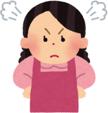 ハッピーメールを使うことに反対している怒っている親のアイコン