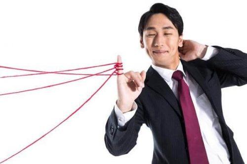 赤い糸と男性